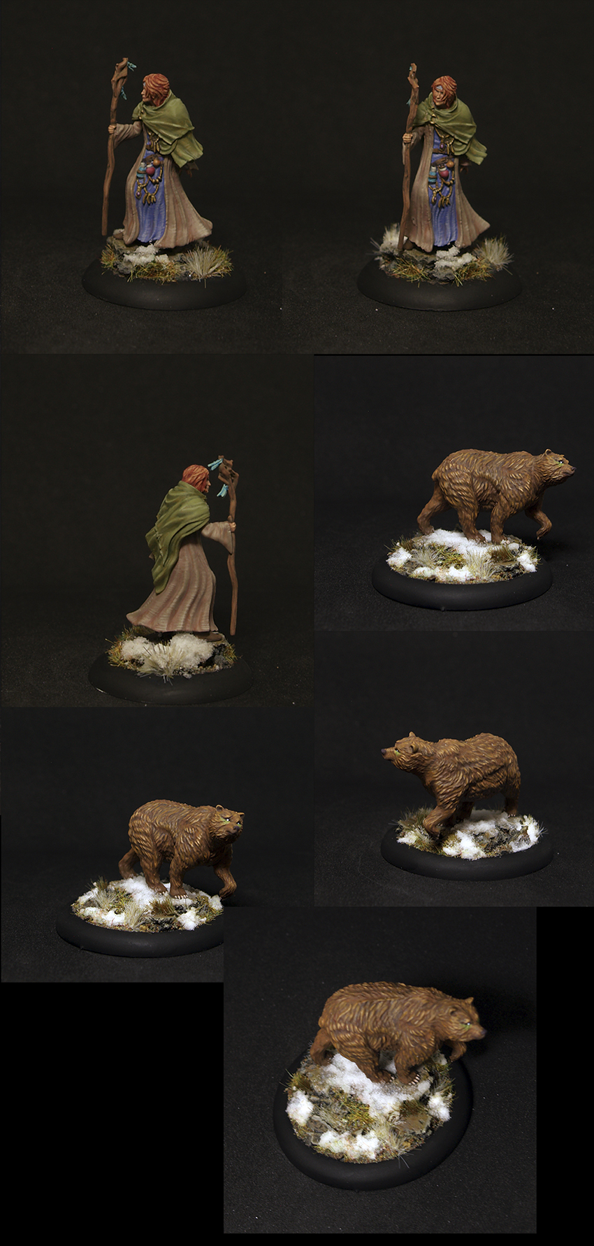 Female Wizard Mother Yulia and Grizzly Bear