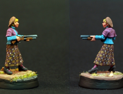 Gun Moll with Shotgun
