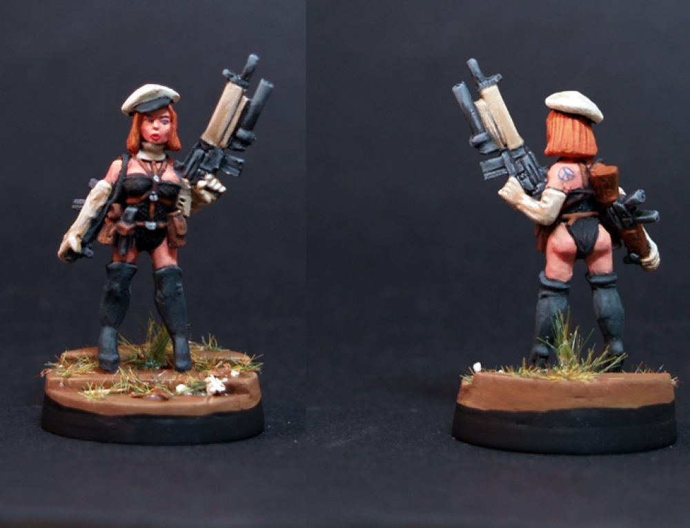 Gun Moll with AK47 and M16