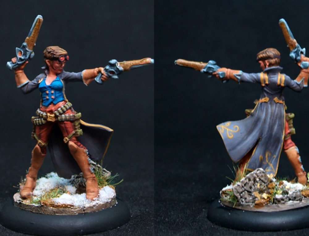 Female Fighter w Two Pistols