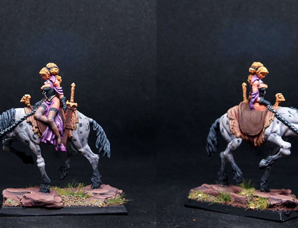Mounted Female Vampire