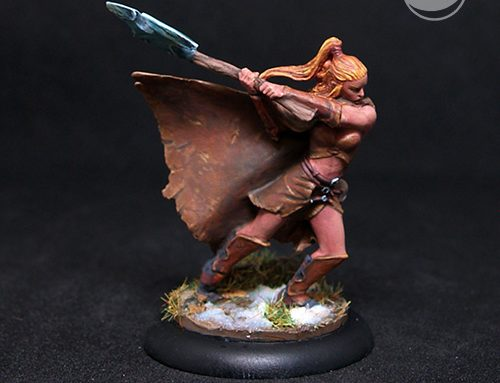Female Barbarian with Double Axe