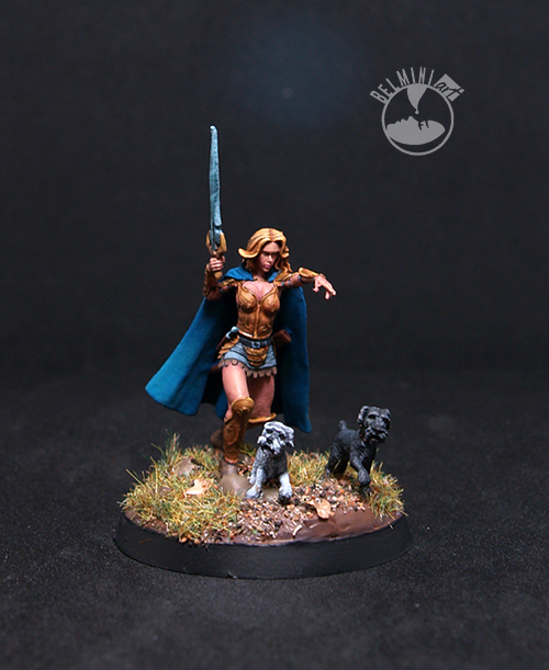 Melissa Female Fighter with Schnauzers