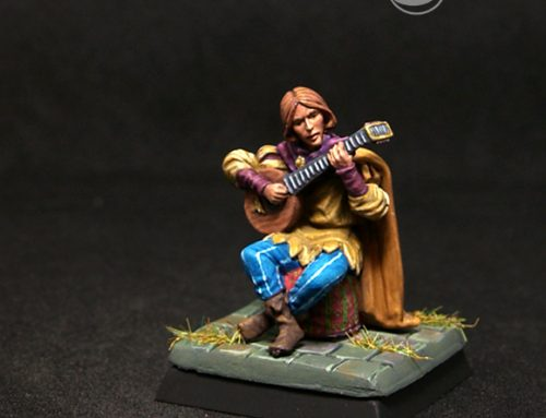 Male Minstrel with Lute
