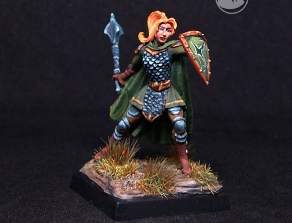 Female Warrior/Cleric with Mace