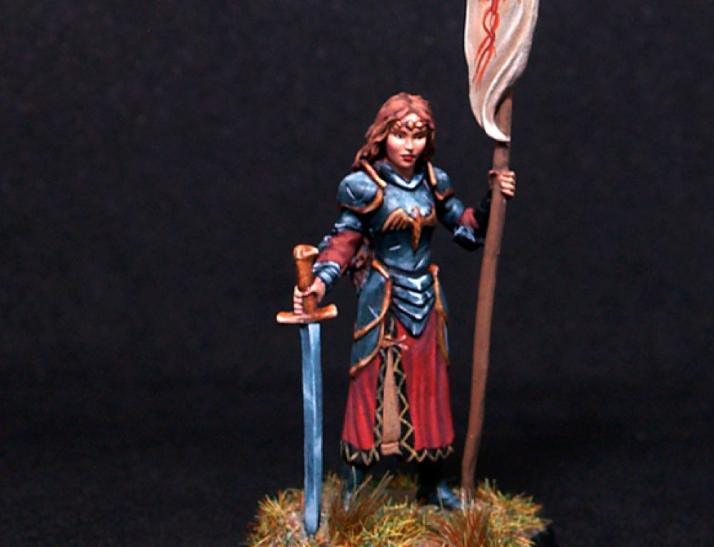 Female Paladin with Sword