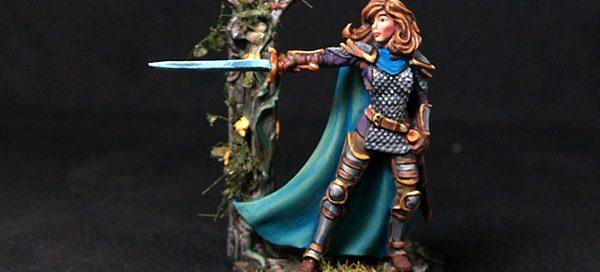 Female Cavalier with Long Sword