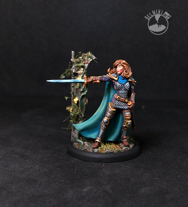 Female Cavalier with Long Sword