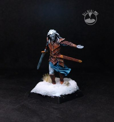 Darksword Dark Male Elven Warrior with Long Sword