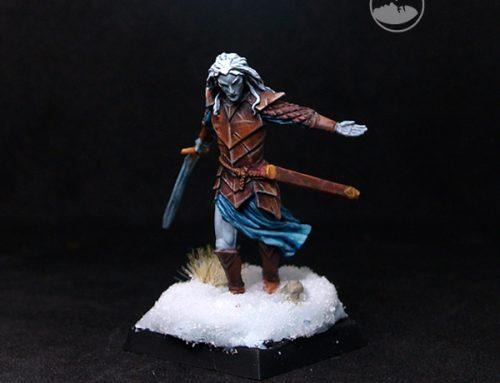 Dark Male Elven Warrior with Long Sword