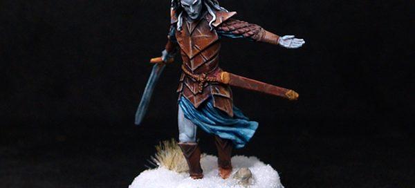 Darksword Dark Male Elven Warrior with Long Sword
