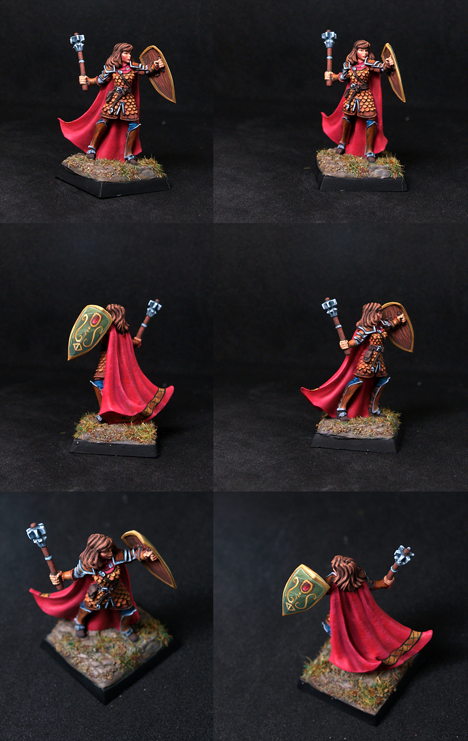 Female Cleric with Mace and Shield