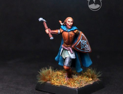 Female Warrior/Cleric with warhammer