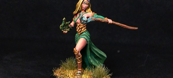 Female Druid with Staff
