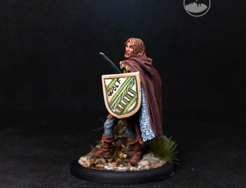 Male Fighter with Sword and shield:Wolf
