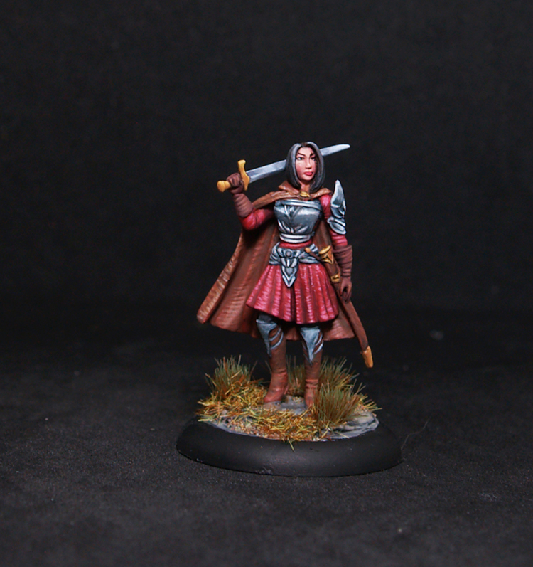 Female Warrior with Long Sword DSM7482