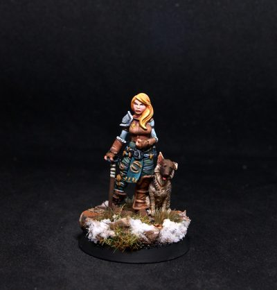 Guild Ball Sherry Female Adventurer with Dog