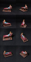 Darksword Cersei Lannister on Lion Fainting Couch