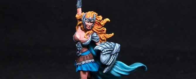 Darksword Female Warrior with Sword and Shield