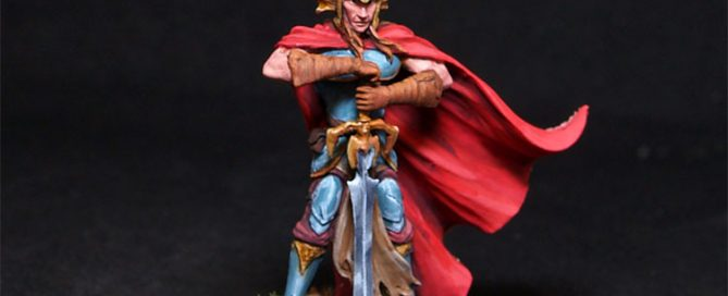 Darksword Male Fighter with Two Handed Dark Sword
