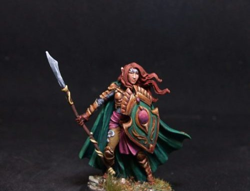 Female Elven Warrior with spear