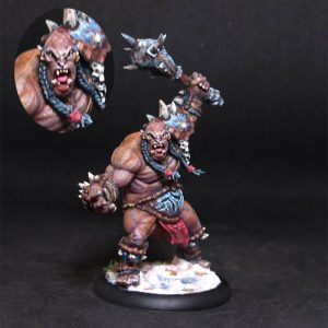 Ogre Champion.Monster.Rpg rol character or npc.Hand painted miniature.Printed
