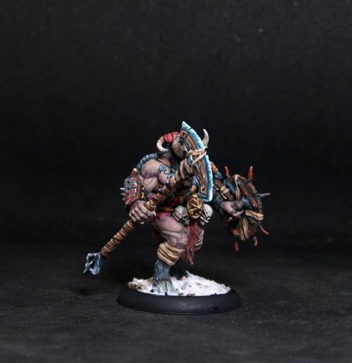Beastman.Monster.Rpg rol character or npc.Hand painted miniature.Printed