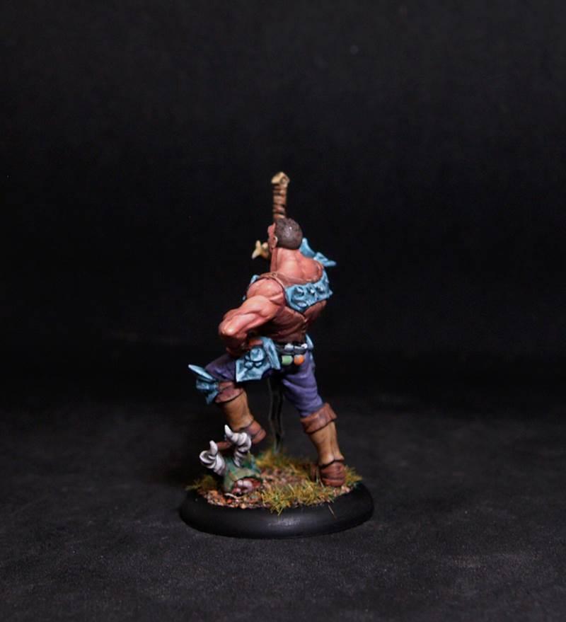Male Demon Hunter.Rpg rol character or npc.Hand painted miniature.Printed