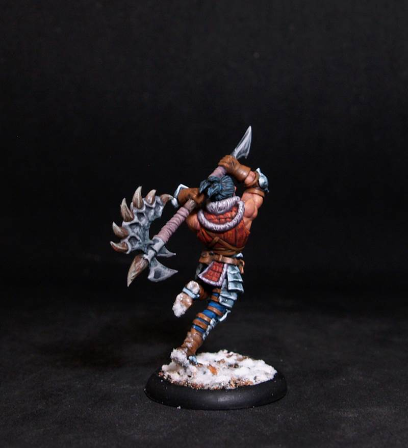 Male Barbarian.Rpg rol character or npc.Hand painted miniature.Printed