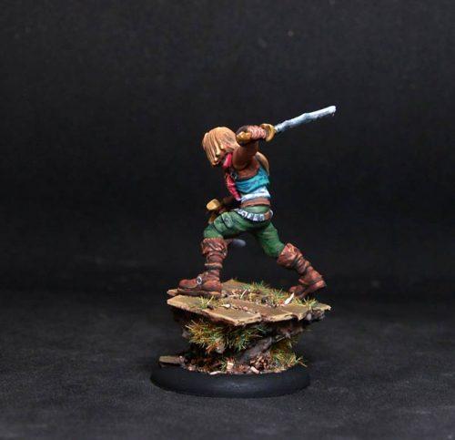 Male survivor adventurer.Rpg rol character.Hand painted miniature.Printed